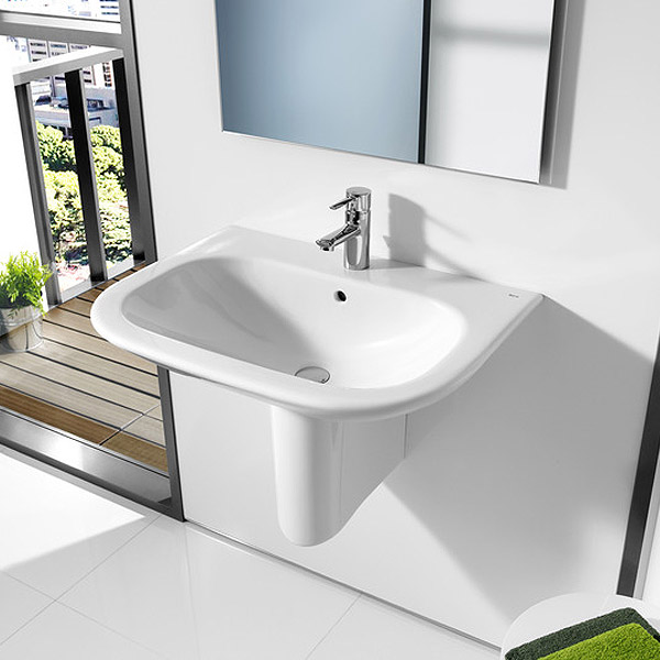Roca Nexo Wall-hung 1TH Basin profile large image view 2