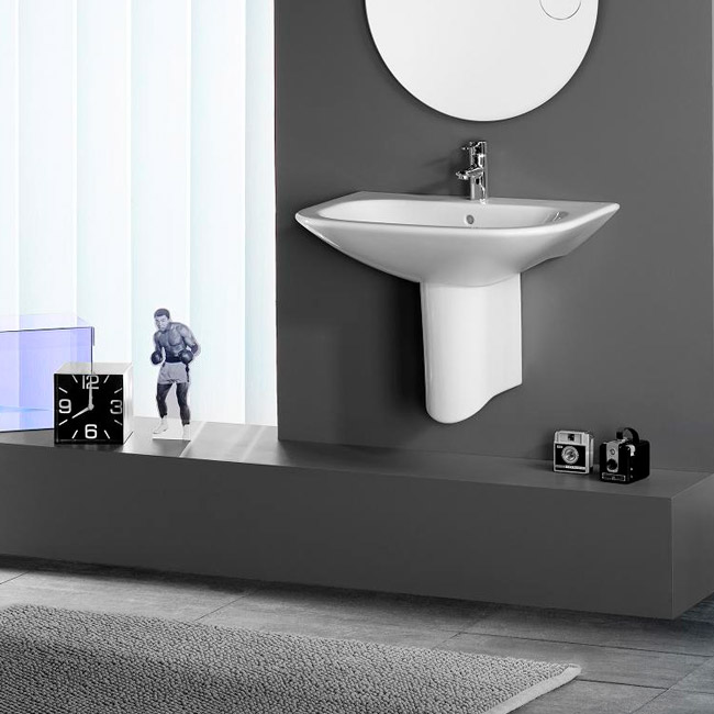 Roca Nexo Wall-hung 1TH Basin profile large image view 4