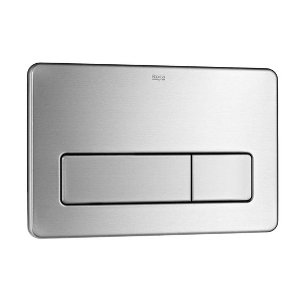Roca PL3 Dual Stainless Steel Flush Plate - 890097004 Large Image