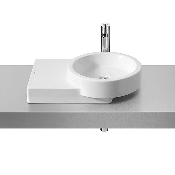 Roca Post 600 x 450mm Over countertop Basin with Integrated shelf 0TH - 32722R000 Large Image