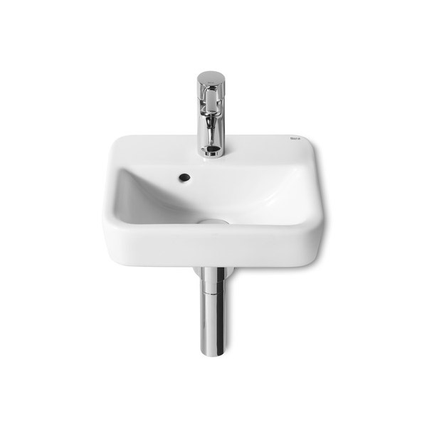 Roca Senso Square Compact 350 x 285mm Wall-hung 1TH Basin - 32751D000 profile large image view 1