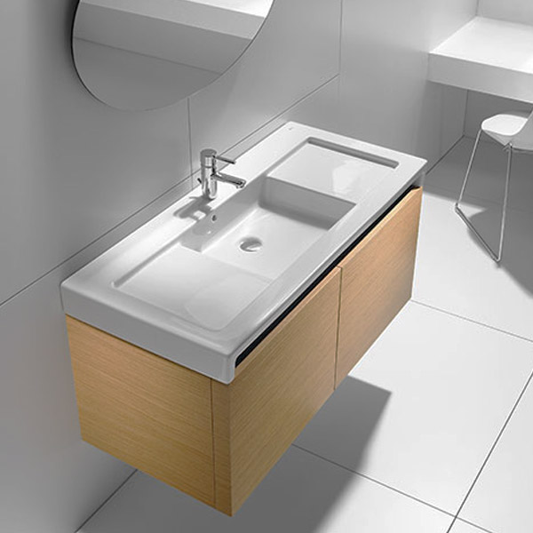 Roca Stratum Wall-hung or vanity 1TH Basin profile large image view 2