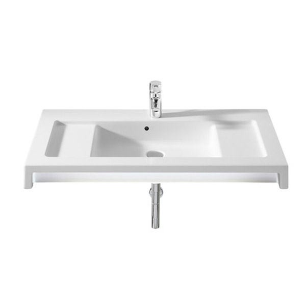 Roca Stratum Wall-hung or vanity 1TH Basin profile large image view 1
