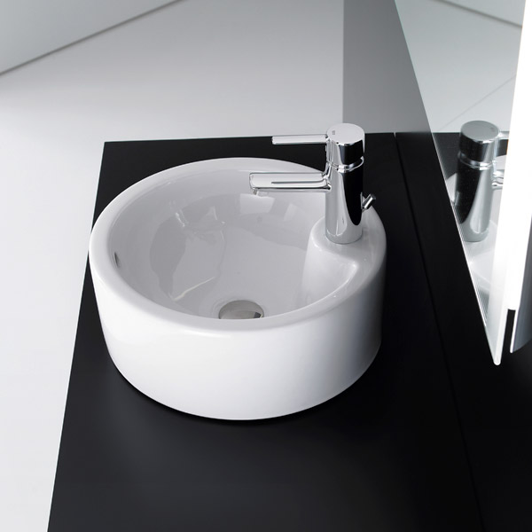 Roca Terra 390mm Over countertop 1TH Basin - 32722T000 Profile Large Image