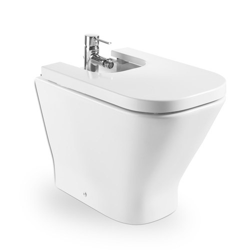 Roca - The Gap Floor-standing back to wall bidet with soft-close cover Large Image