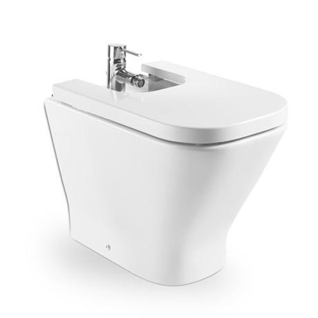 Roca - The Gap Floor-standing back to wall bidet with soft-close cover