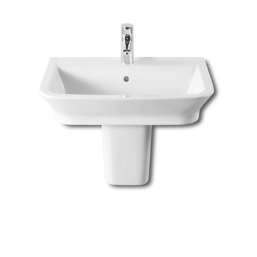 Roca - The Gap 550mm 1 tap hole basin with semi pedestal Large Image