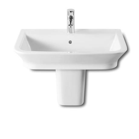 Roca - The Gap 650mm 1 tap hole basin with semi pedestal