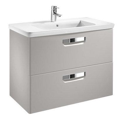 ROCA MINI UNIK 450MM GLOSS WHITE WALL HUNG BASE UNIT AND BASIN BATHROOM