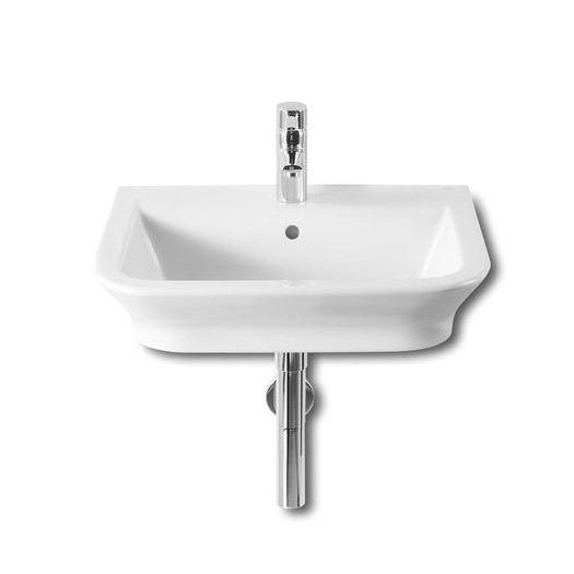 Roca - The Gap W550 x D470mm wall hung basin - 1 tap hole - 327475000 Large Image