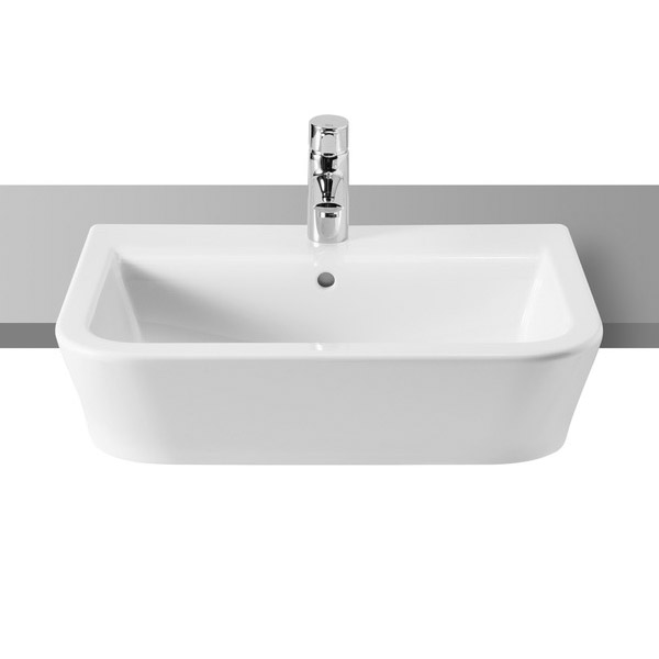 Roca - The Gap W10 x D10 semi recessed basin with fixing brackets ...