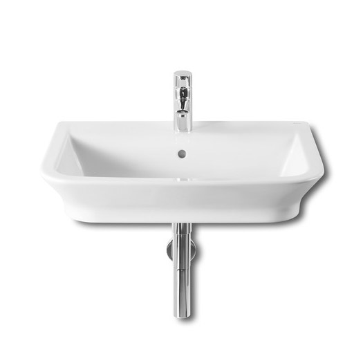 Roca - The Gap W650 x D470mm wall hung basin - 1 tap hole - 327473000 profile large image view 1