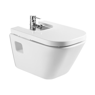 Roca - The Gap Wall hung bidet with soft-close cover Large Image
