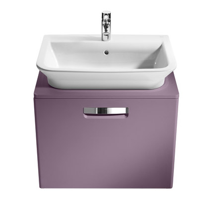 Roca - The Gap wall hung base unit with basin W675 x D470 - Matt Grape profile large image view 2