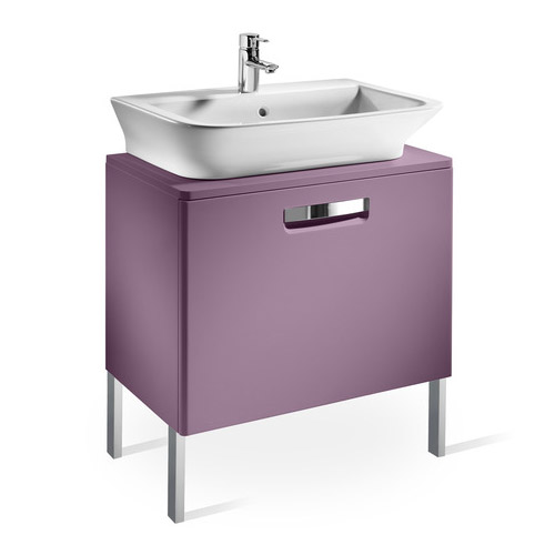 Roca - The Gap wall hung base unit with basin W555 x D470 - Matt Grape Feature Large Image