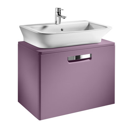 Roca - The Gap wall hung base unit with basin W675 x D470 - Matt Grape profile large image view 1