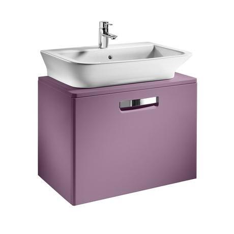 Roca - The Gap wall hung base unit with basin W675 x D470 - Matt Grape