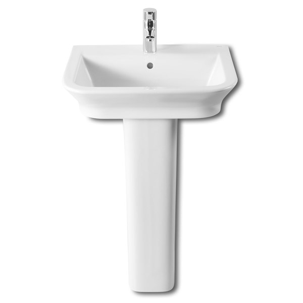 Roca - The Gap 550mm 1 tap hole basin with full pedestal Large Image