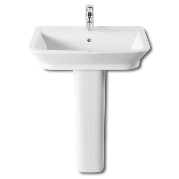 Roca - The Gap 650mm 1 tap hole basin with full pedestal Large Image