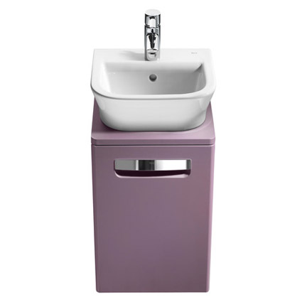 Roca - The Gap wall hung base unit with basin W400 x D320 - Matt Grape profile large image view 2