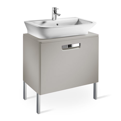 Roca - The Gap wall hung base unit with basin W555 x D470 - Matt Beige profile large image view 3