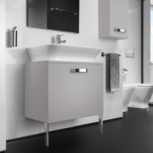 Roca - The Gap wall hung base unit with basin W555 x D470 - Matt Beige profile large image view 4