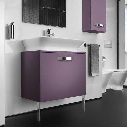 Roca - The Gap wall hung base unit with basin W675 x D470 - Matt Grape profile large image view 4