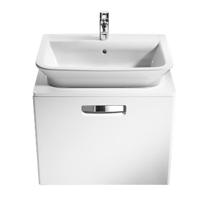 Roca - The Gap wall hung base unit with basin W675 x D470 - Matt White Profile Large Image