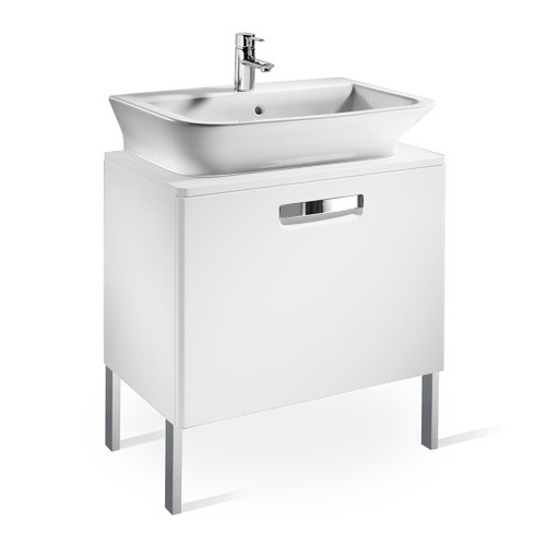Roca - The Gap wall hung base unit with basin W675 x D470 - Matt White Feature Large Image