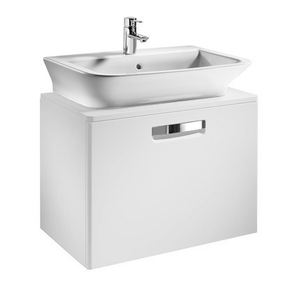 Roca - The Gap wall hung base unit with basin W675 x D470 - Matt White Large Image