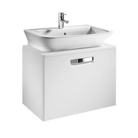 Roca - The Gap wall hung base unit with basin W675 x D470 - Matt White