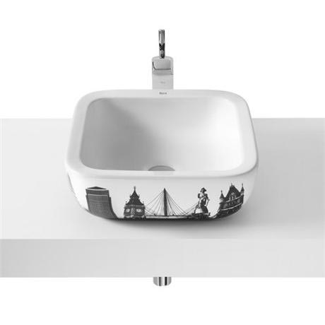 Roca - Urban London Countertop Basin - 400 x 400mm - White - 32765L00U