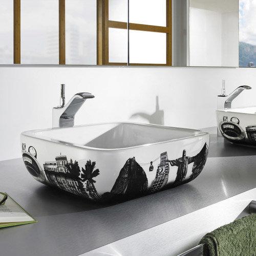Roca - Urban Rio de Janeiro Countertop Basin - 400 x 400mm - White - 32765R00U Profile Large Image