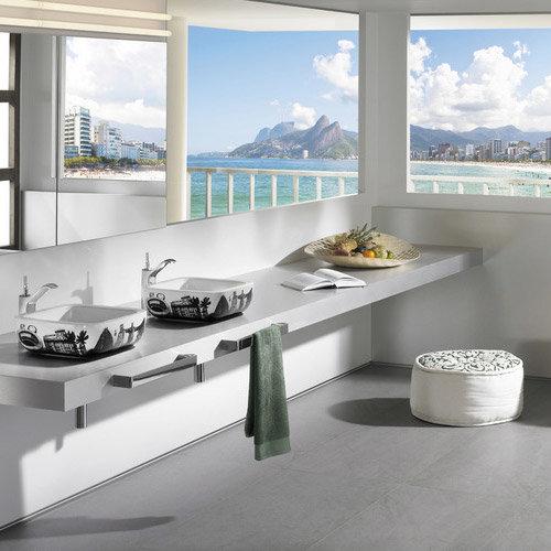 Roca - Urban Rio de Janeiro Countertop Basin - 400 x 400mm - White - 32765R00U Feature Large Image