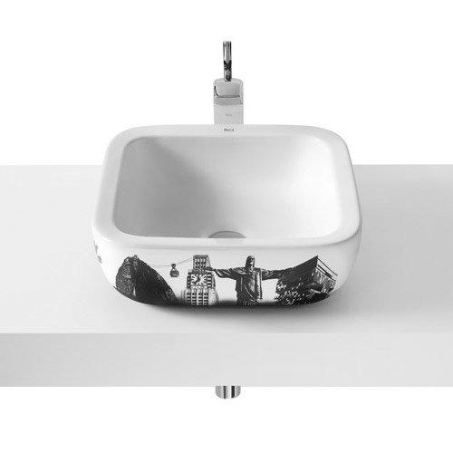 Roca - Urban Rio de Janeiro Countertop Basin - 400 x 400mm - White - 32765R00U Large Image