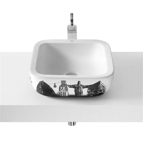 Roca - Urban Rio de Janeiro Countertop Basin - 400 x 400mm - White - 32765R00U