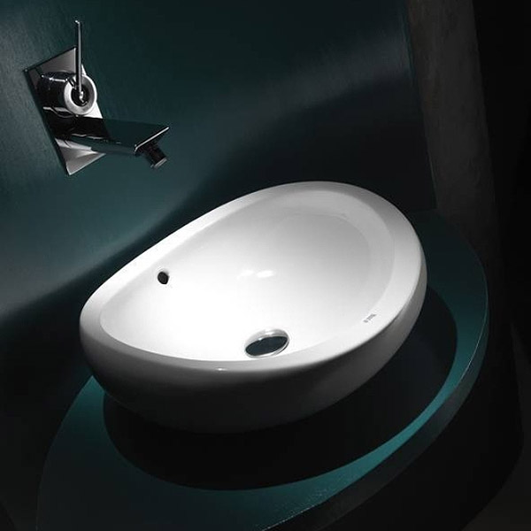Roca Urbi 1 450mm Over countertop Basin 0TH - 327225000 Profile Large Image