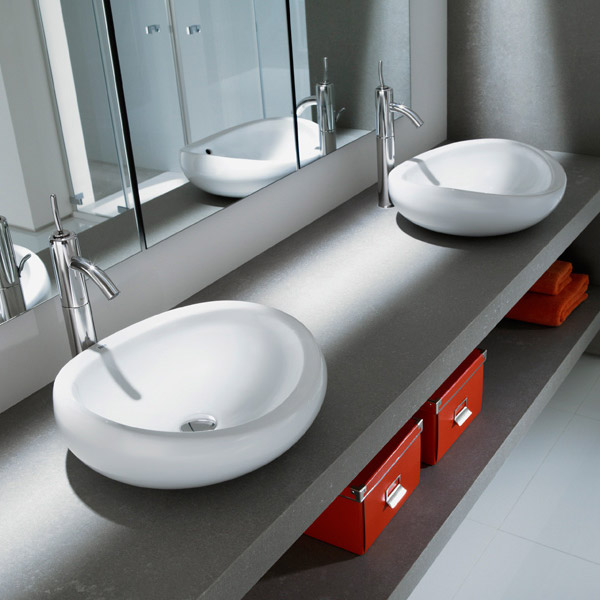 Roca Urbi 1 450mm Over countertop Basin 0TH - 327225000 Feature Large Image