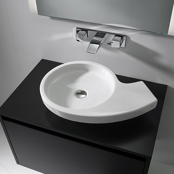 Roca Urbi 3 580 x 400mm Over countertop Basin 0TH - 327228000 Standard Large Image