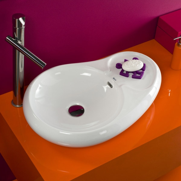 Roca Urbi 7 600 x 400mm Over countertop Basin 0TH - 327227000 profile large image view 3