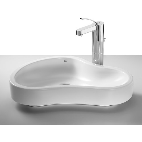 Roca - Urbi 8 W550 x D400mm Countertop basin - 32722A000 profile large image view 1