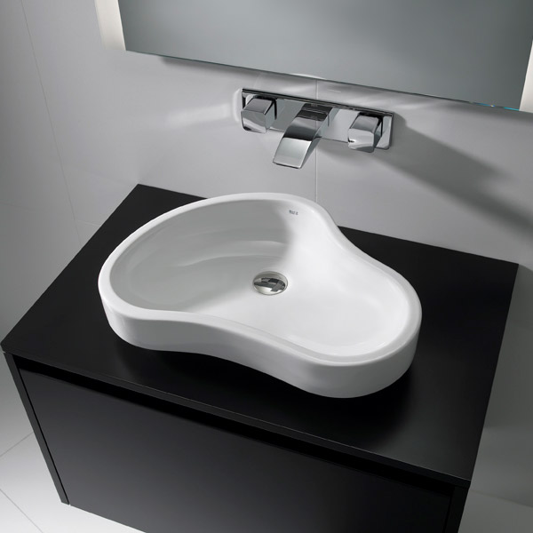 Roca - Urbi 8 W550 x D400mm Countertop basin - 32722A000 profile large image view 3