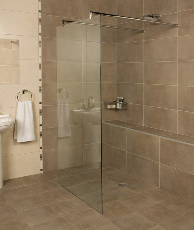 Roman - Embrace Glass Linear Wetroom Panel - Various Size Options Large Image