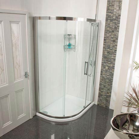 Roman Embrace Single Door Offset Quadrant Shower Enclosure - Various Size Options