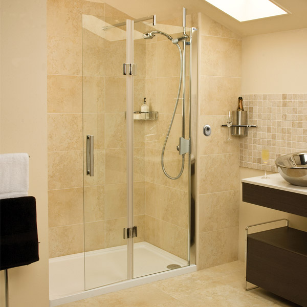 Roman - Embrace Walk In Shower Enclosure - Right hand - Various Size Options profile large image view 1