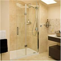 Roman - Embrace Walk In Shower Enclosure - Right hand - Various Size Options Medium Image