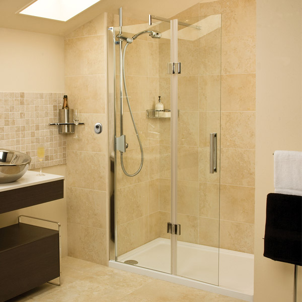 Roman - Embrace Walk In Shower Enclosure - Left hand - Various Size Options Large Image