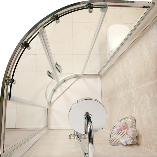 Roman - Infinity 40mm Low Profile Stone Quadrant Shower Tray - 900 x 900mm - Various Colour Options Feature Large Image