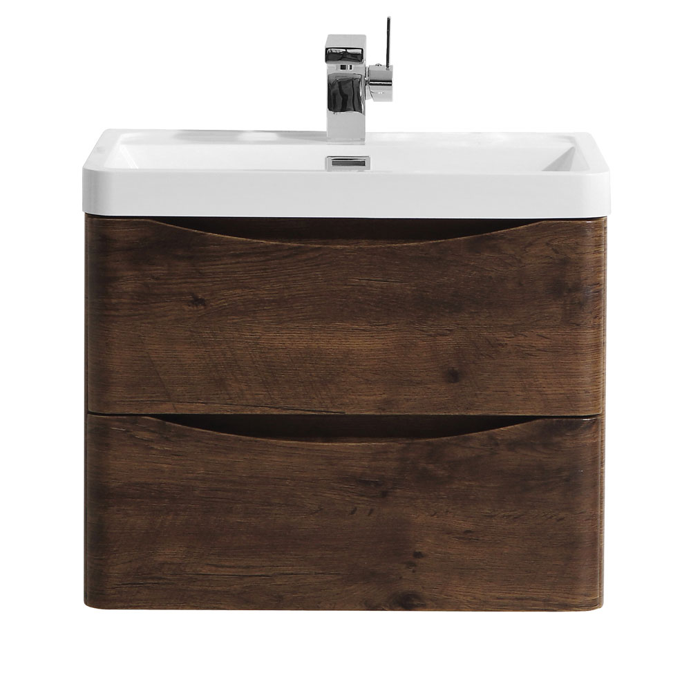 Ronda Chestnut 600mm Wide Wall Mounted Vanity Unit Large Image