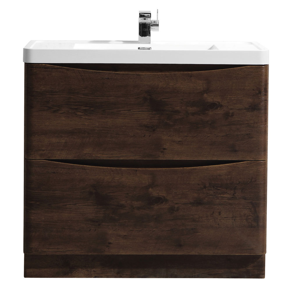 Ronda Chestnut 900mm Wide Floor Standing Vanity Unit profile large image view 1